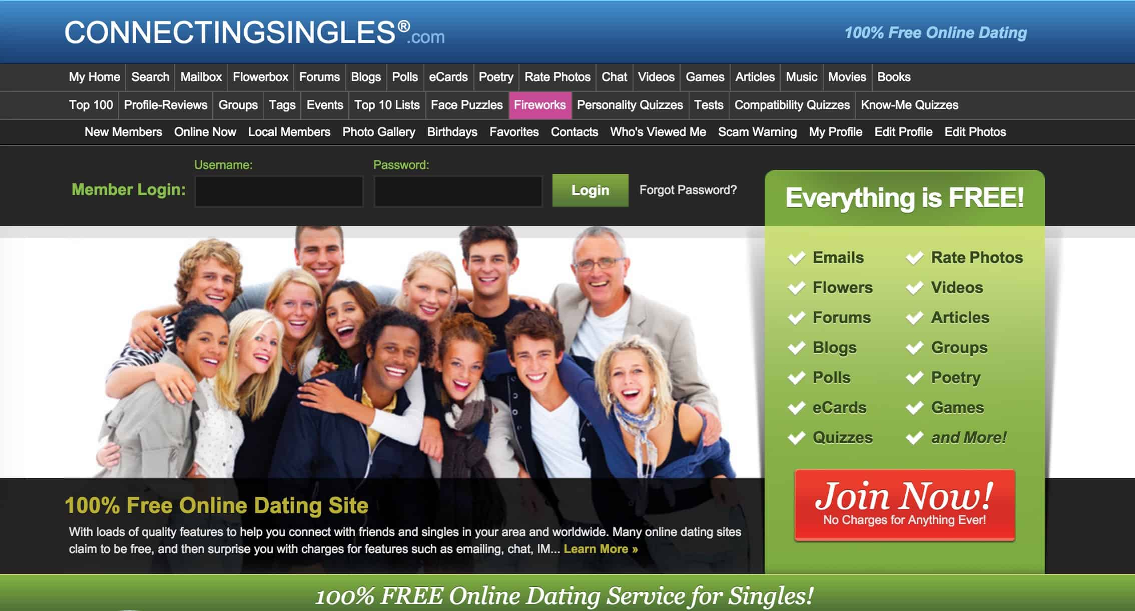 Free dating sites in use