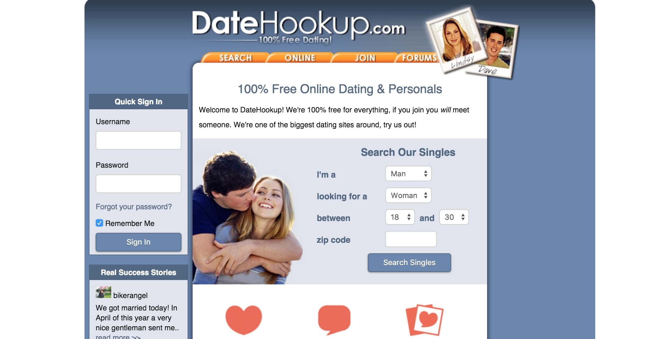 From hookup to dating