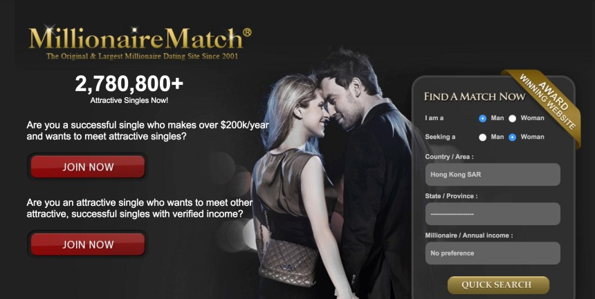Millionaire dating website usa