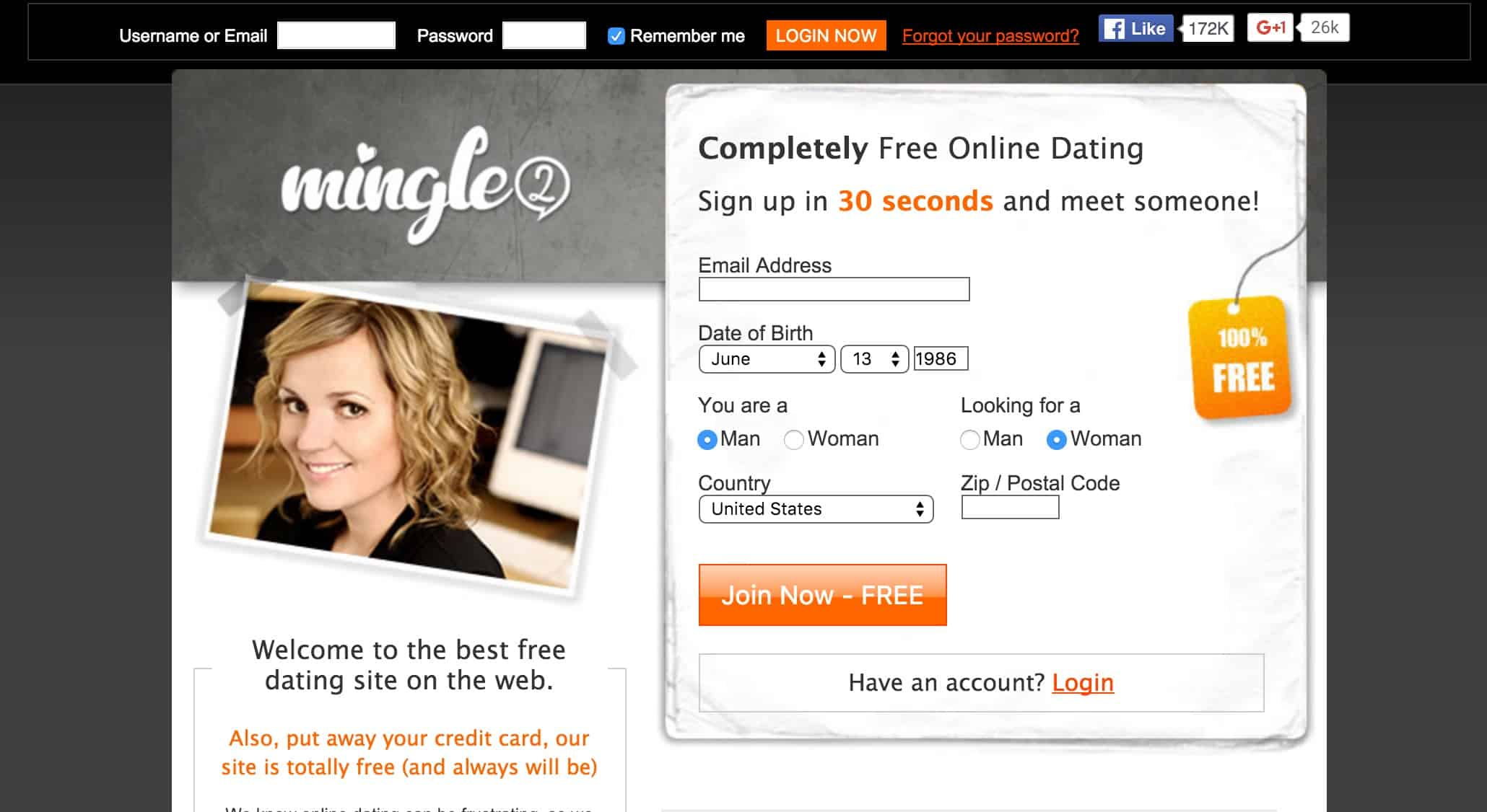 Mingle2 free dating